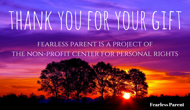 Thank you for your gift - Fearless Parent